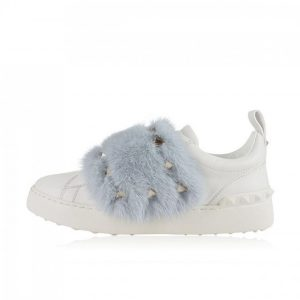 valentino sneakers med mink